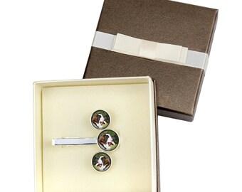 St. Bernard. Jewelry for dog lovers. Cufflinks and tie pin . Photo jewellery. Men's jewellery. Handmade