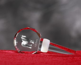 Fell Pony, Crystal Wine Stopper with Horse, Wine and Horse Lovers, High Quality, Exceptional Gift. New Collection