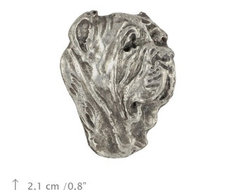 Mastino Napolitano, Neapolitan Mastiff (head), dog pin, limited edition, ArtDog