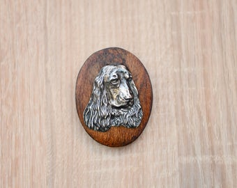 English Cocker Spaniel, dog clipring, dog show ring clip/number holder, limited edition, ArtDog
