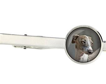 Italian Greyhound. Tie clip for dog lovers. Photo jewellery. Men's jewellery. Handmade