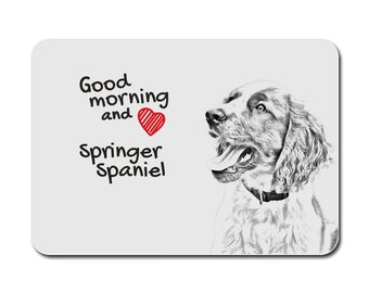 English Springer Spaniel, A mouse pad with the image of a dog. Collection!