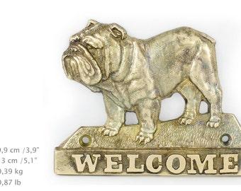 Bulldog, dog welcome, hanging decoration, limited edition, ArtDog