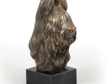 Briard, dog marble statue, limited edition, ArtDog. Made of cold cast bronze. Perfect gift. Limited edition