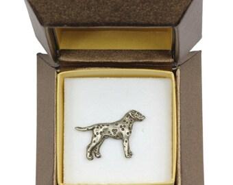 NEW, Dalmatian, dog pin, in casket, limited edition, ArtDog