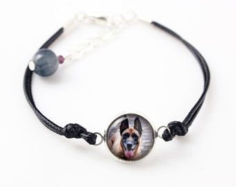 Belgian Shepherd, Malinois. Bracelet for people who love dogs. Photojewelry. Handmade.