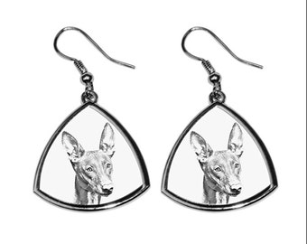 Pharaoh Hound - NEW collection of earrings with images of purebred dogs, unique gift