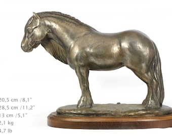 Fell ponny (mare), horse wooden base statue, limited edition, ArtDog