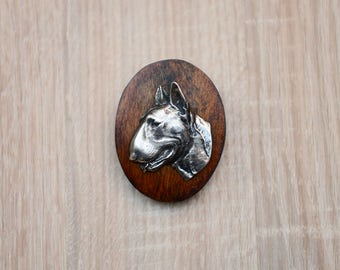 Bull Terrier, dog clipring, dog show ring clip/number holder, limited edition, ArtDog