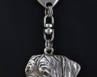 Dogue de Bordeaux, dog keyring, keychain, limited edition, ArtDog . Dog keyring for dog lovers