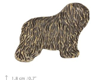Bobtail, dog pin, limited edition, ArtDog
