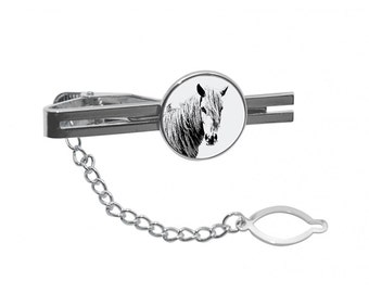 NEW! Giara horse - Tie pin with an image of a horse.