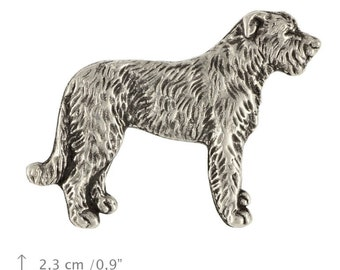 Irish Wolfhound (body), dog pin, limited edition, ArtDog