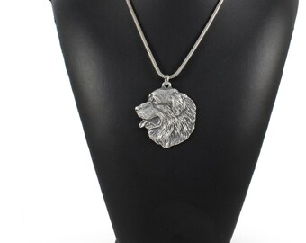 NEW, Bernese Mountain Dog, dog necklace, silver cord 925, limited edition, ArtDog