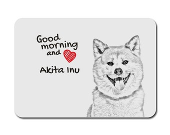 Akita Inu, A mouse pad with the image of a dog. Collection!