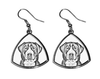 Greater Swiss Mountain Dog - NEW collection of earrings with images of purebred dogs, unique gift