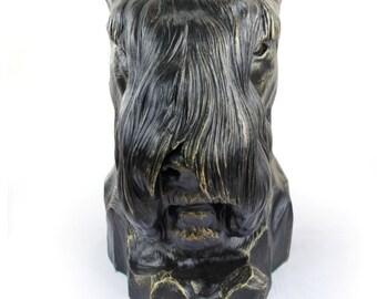 Schnauzer (cropped), dog big head statue, limited edition, ArtDog