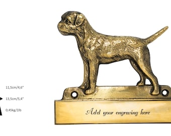 Border Terrier, dog plaque, can be engraved, limited edition, ArtDog