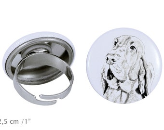 Ring with a dog - Bloodhound