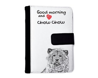 Chow chow- Notebook with the calendar of eco-leather with an image of a dog! NEW COLLECTION!