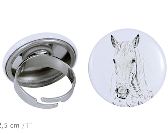 Ring with a horse - Camargue horse