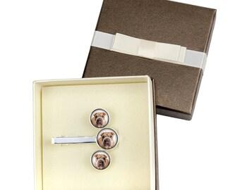 Shar Pei. Jewelry for dog lovers. Cufflinks and tie pin . Photo jewellery. Men's jewellery. Handmade