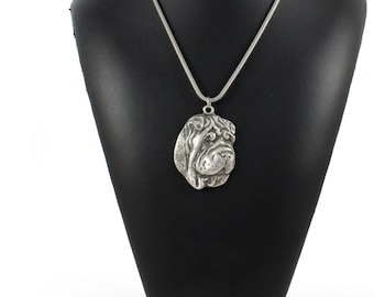 NEW, Shar-Pei, Chinese Shar-Pei, dog necklace, silver cord 925, limited edition, ArtDog