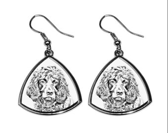 Boykin SPANIEL- NEW collection of earrings with images of purebred dogs, unique gift
