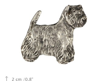West Highland White Terrier, Poltalloch Terrier Roseneath Terrier, dog pin, limited edition, ArtDog