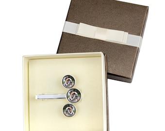 Bulldog, English Bulldog. Jewelry for dog lovers. Cufflinks and tie pin . Photo jewellery. Men's jewellery. Handmade