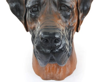 Great Dane, Deutsche Dogge (uncropped), color, dog big head statue, limited edition, ArtDog