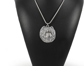 NEW, Chow Chow, dog necklace, silver cord 925, limited edition, ArtDog