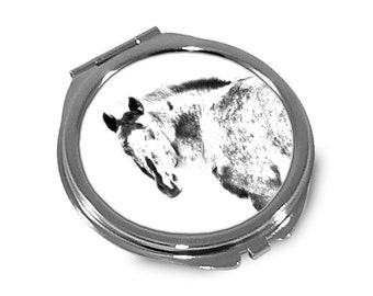 Appaloosa - Pocket mirror with the image of a horse.