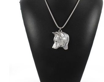 NEW, Shiba Inu, dog necklace, silver cord 925, limited edition, ArtDog
