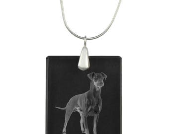 Manchester terrier,  Dog Crystal Pendant, SIlver Necklace 925, High Quality, Exceptional Gift, Collection!
