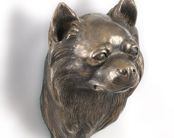 Chihuahua (long haired), dog hanging statue, limited edition, ArtDog