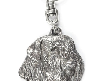 NEW, Bouvier,  Flanders Cattle Dog, dog keyring, key holder, limited edition, ArtDog . Dog keyring for dog lovers