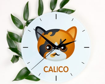 A clock with a Calico cat. A new collection with the cute Art-Dog cat