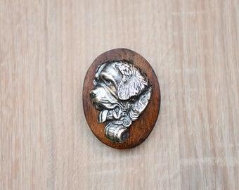 St. Bernard, dog clipring, dog show ring clip/number holder, limited edition, ArtDog