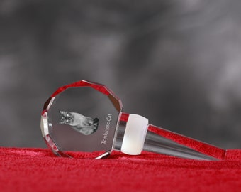 Tonkinese Cat, Crystal Wine Stopper with cat, Wine and Cat Lovers, High Quality, Exceptional Gift. New Collection