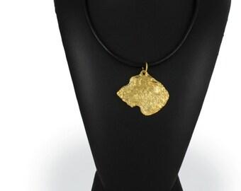 Irish Wolfhound, millesimal fineness 999, dog necklace, limited edition, ArtDog