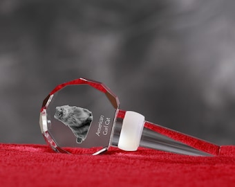 American Curl, Crystal Wine Stopper with cat, Wine and Cat Lovers, High Quality, Exceptional Gift. New Collection