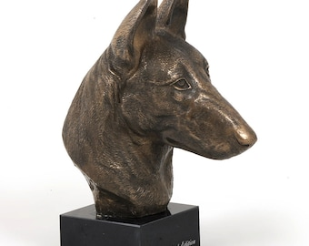 Malinois, dog marble statue, limited edition, ArtDog. Made of cold cast bronze. Solid, perfect gift. Limited edition.