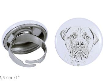 Ring with a dog - Bullmastiff