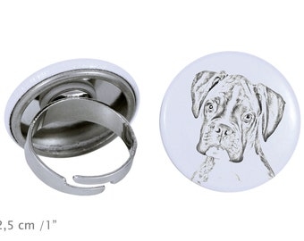 Ring with a dog - Boxer