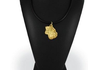 Schnauzer uncropped, millesimal fineness 999, dog necklace, limited edition, ArtDog