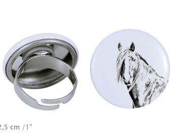 Ring with a horse - Canadian horse