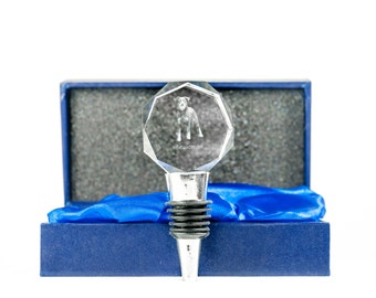 Beauceron, Crystal Wine Stopper with Dog, Wine and Dog Lovers, High Quality, Exceptional Gift