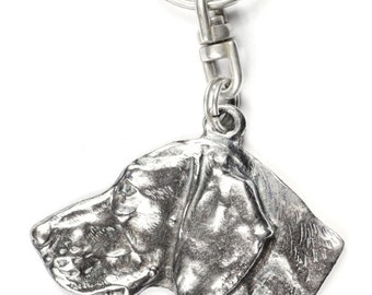 NEW, Weimaraner, Weimaraner Vorstehhund, dog keyring, key holder, limited edition, ArtDog . Dog keyring for dog lovers