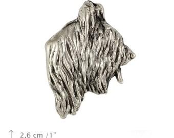 Briard (cropped), dog pin, limited edition, ArtDog